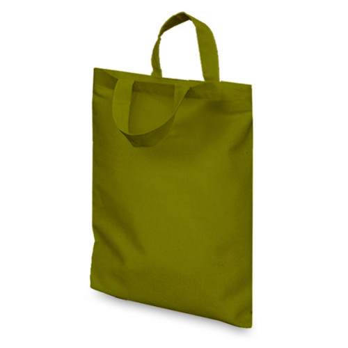 Olive cotton Goody Bag 21x26cm Flat