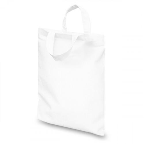 White cotton Goody Bag 21x26cm Flat