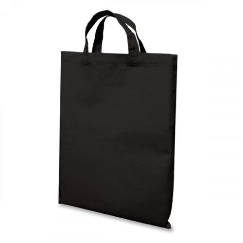 Black Cotton Short Handled Bag 26x32 cm