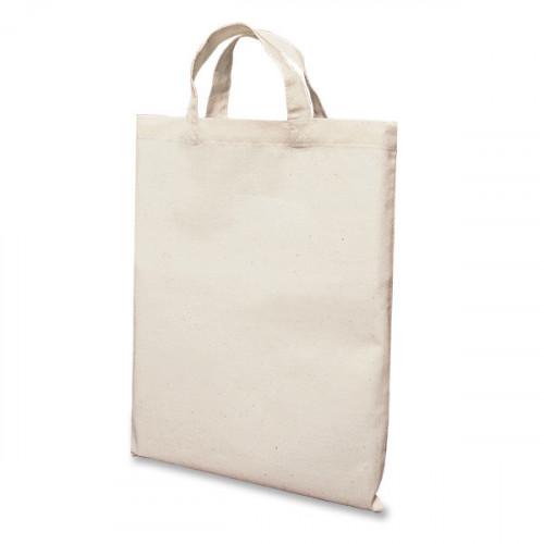 Natural Cotton Short Handled Bag 26x32 cm