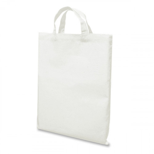 White Cotton Short Handled Bag 26x32 cm