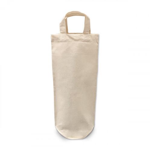Natural cotton bottle carrier bag 17x36cm