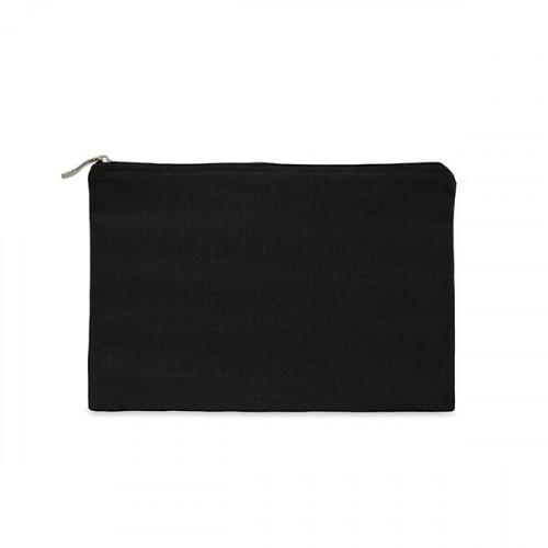 Black canvas 8oz tablet protector case 25x16cm