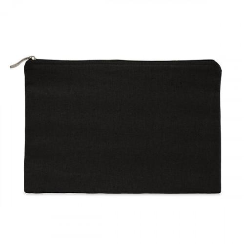 Black canvas 8oz tablet protector case 31x21cm