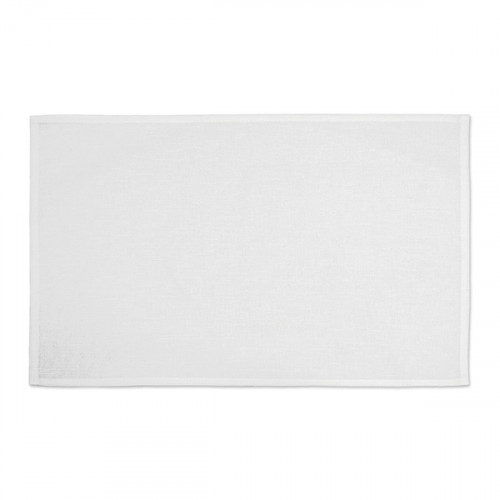 White linen/cotton Table Mat 48x33cm flat