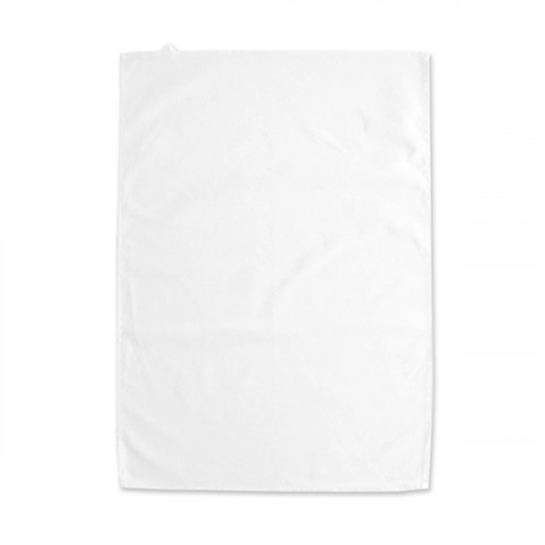 Chalk White cotton Tea Towel 45x68cm hemmed 4 sides