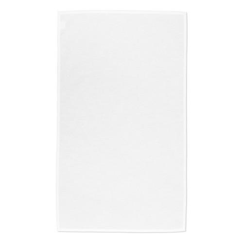 White cotton Tea Towel hemmed on 4  sides