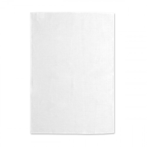 White linen Tea Towel 48x76cm hemmed 4 sides Hanging loop