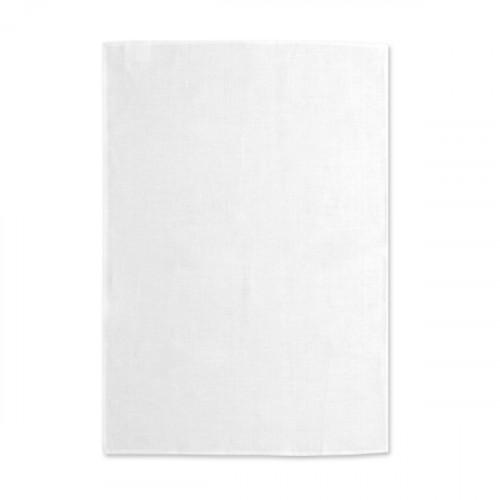 White linen Tea Towel 48x76cm hemmed 4 sides Hanging loop