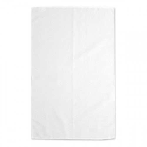 White linen/cotton Tea Towel 48x78cm hemmed 4 sides Hanging loop