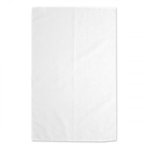 White linen/cotton Tea Towel 48x78cm hemmed 4 sides Hanging loop