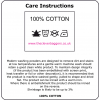 Care instructions for cotton tea towel and napkin