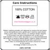 White cotton Tea Towel 48x75cm hemmed 4 sides
