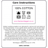Care instructions for cotton aprons