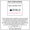 Care instructions for linen cotton products