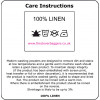 Care instructions for natural linen products