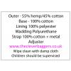Natural hemp cotton bottle Carrier Bag 15x20cm crossbody strap