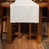 White linen/cotton Table Runner 48x140cm - on the table